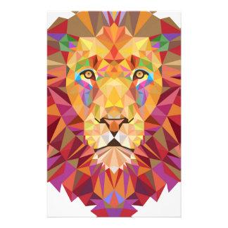 Leão geométrico papelaria