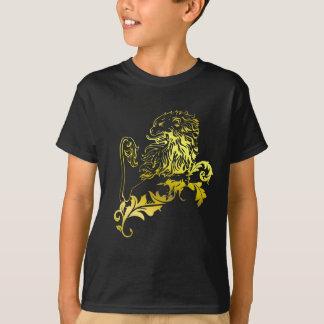 Leão heráldico do ouro - a roupa de MyBlazon para Camiseta
