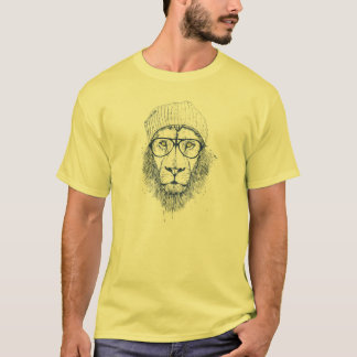 Leão legal camiseta