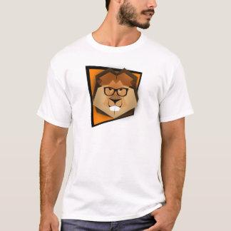 Leão legal do hipster camiseta