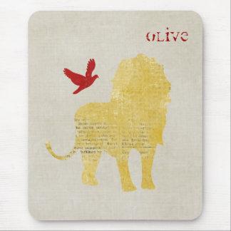 Leão Mousepad personalizado silhueta do ouro