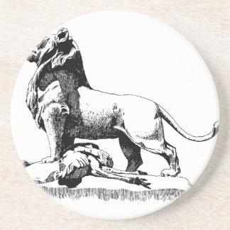 Leão orgulhoso porta-copos