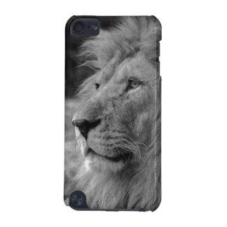 Leão preto & branco - animal selvagem capa para iPod touch 5G