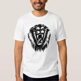 leão rujir t-shirts