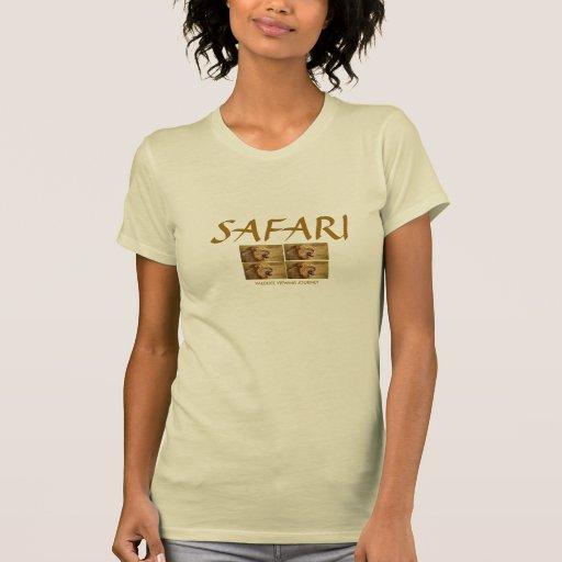 Leão: T do safari das senhoras Tshirt