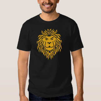 Leão tribal camisetas