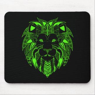 Leão verde com cor do fundo de sua escolha mouse pad