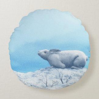 Lebre ártica, lepus ártico, ou coelho polar almofada redonda