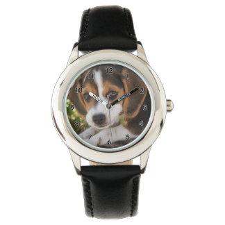 Lebreiro do cão de filhote de cachorro relógio de pulso