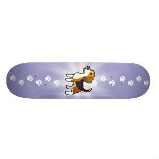 Lebreiro dos desenhos animados shape de skate 20cm