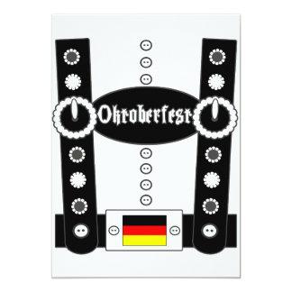 Lederhosen BW engraçado de Oktoberfest Convite 12.7 X 17.78cm