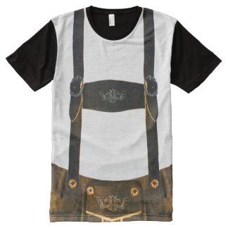 Lederhosen do alemão de Oktoberfest Camiseta Com Impressão Frontal Completa