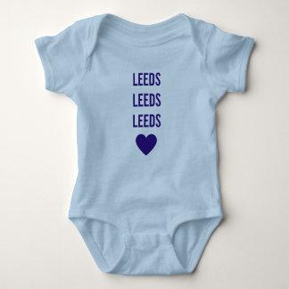 LEEDS LEEDS LEEDS Babygrow azul personalizado LUFC Body Para Bebê