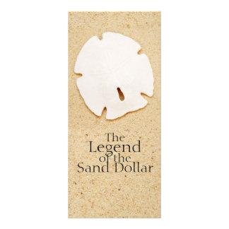 Legenda do cartão da cremalheira do dólar de areia 10.16 x 22.86cm panfleto