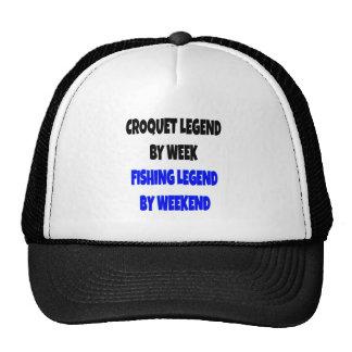 Legenda do Croquet da legenda da pesca Boné