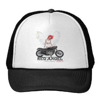 Legenda vermelha do motor do piloto do café do anj boné