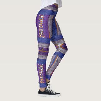 Legging 20o Teste padrão; Bar, mosaico & Web curvados