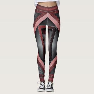 Legging 5o Teste padrão; Quadro chanfrado