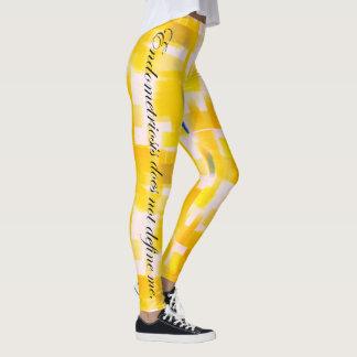 Legging A endometriose não me define aguarela amarela