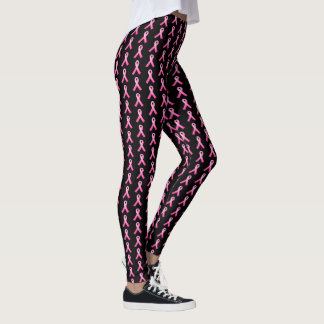Legging A fita Caneleira-Cor-de-rosa das mulheres