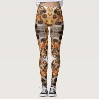 Legging A foto extravagante da rocha da pele do leopardo