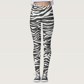 Legging a ioga animal das caneleiras do impressão da zebra