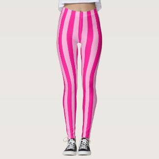 Legging A luz - cor-de-rosa & profundamente - rosa listra
