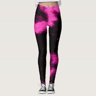 Legging A luz preta cor-de-rosa de Marshmello Remix
