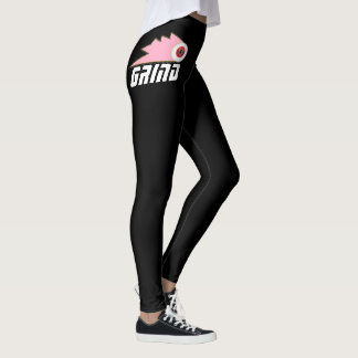 Legging a roupa do skate da moagem ostenta o logotipo