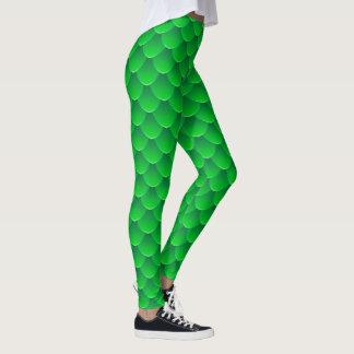 Legging A sereia verde escala caneleiras