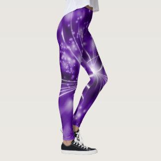 Legging Abstrato do roxo