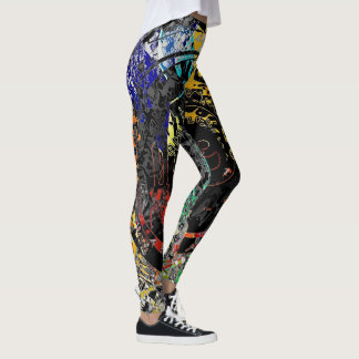 Legging Abstrato dos grafites