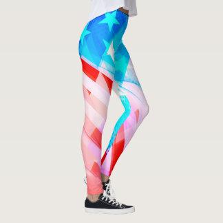 Legging Abstrato patriótico de América