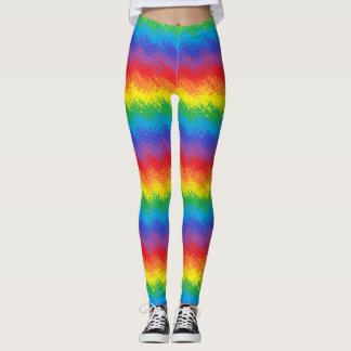 Legging Agitando o arco-íris