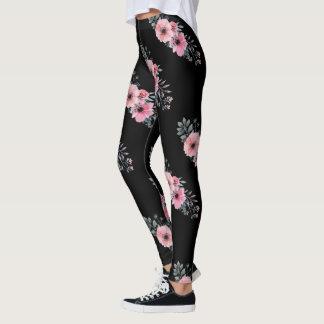 Legging Aguarela | cor-de-rosa feminino das flores