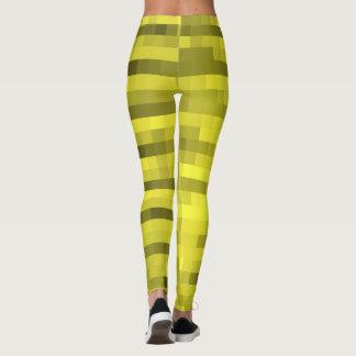 Legging Amarelo do teste padrão de PXL