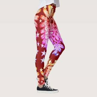 Legging Amor e paz, original retro do estilo