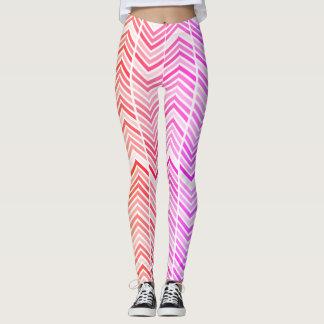 Legging Arco-íris em caneleiras modeladas coloridas do