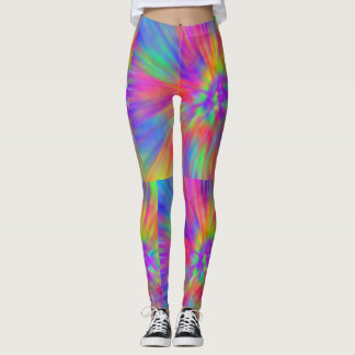 Legging arco-íris pastel