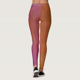 Blazing Orange and Pink Acrylic Leggings
