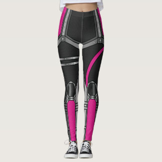 Legging Armadura cor-de-rosa do robô