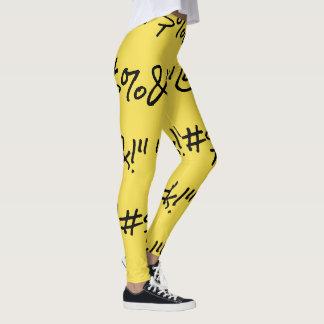 "Legging ""@#$%& ARREBATADOS!"" Caneleiras"