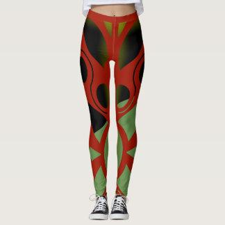 Legging ART DECO VERMELHO IMPRESSIONANTE por