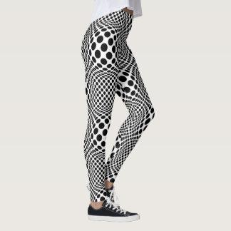 Legging Arte Op preto e branco