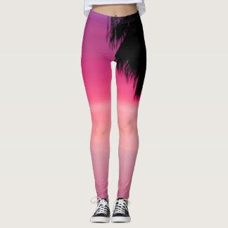 Legging Árvore cor-de-rosa do Pam