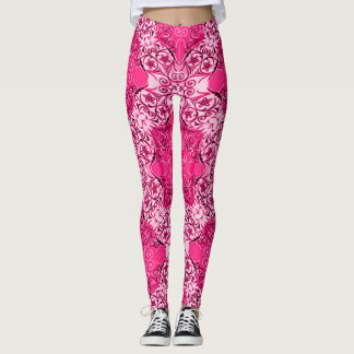 Legging As caneleiras cor-de-rosa decorativas as mais