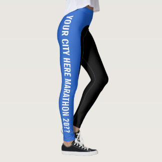 Legging As caneleiras Customisable de corredor de maratona