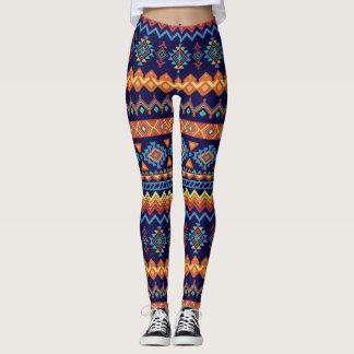 Legging As caneleiras das mulheres abstratas coloridas do