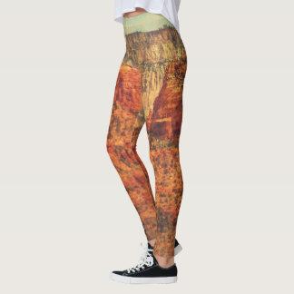 Legging As caneleiras das mulheres do Grunge de Sedona