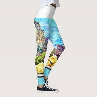 Legging As caneleiras das mulheres Pastel do Grand Canyon